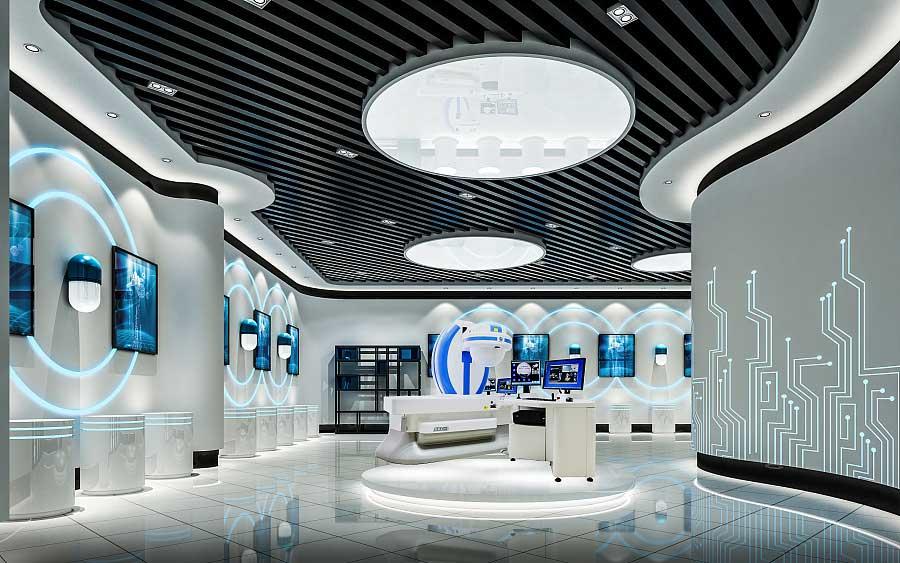 企业展厅产品展示区该如何设计才能提升视觉效果